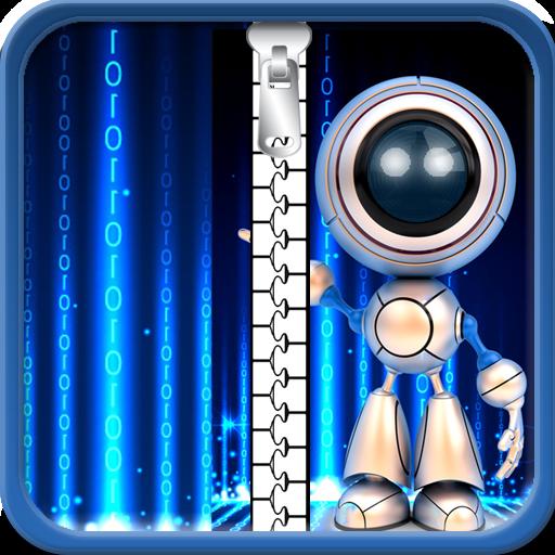 Roboter Zipper Lock Screen
