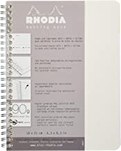 Rhodia Meeting Paper Book 80g Paper - Lined 80 sheets - 6 1/2 x 8 1/4 - White Cover