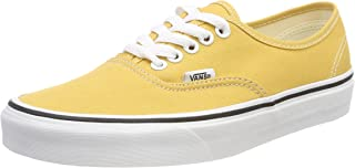 Vans Unisex Adults' Authentic Trainers, Yellow (Ochre/True White Qa0), 9.5 UK 44 EU