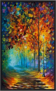 Picture Perfect International Fog Alley ' by Leonid Afremov Print on Canvas Colorful Art, 31.5