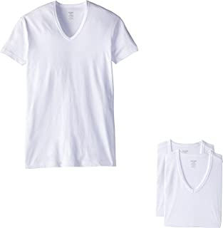 2(X) IST mens Essential Cotton Slim Fit V-Neck T-Shirt 3-Pack Essential Cotton Slim Fit V-neck T-shirt 3-pack (pack of 3)