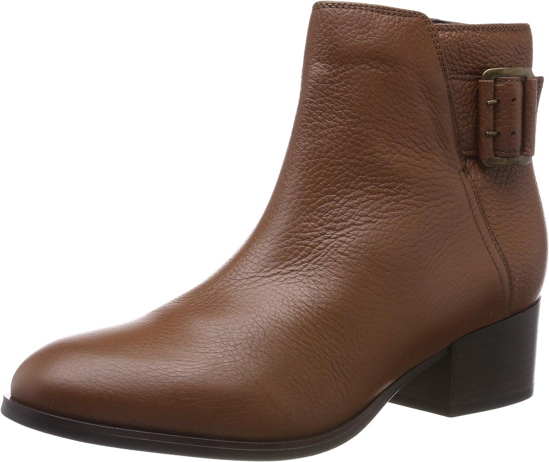 Clarks Women's Elvina Seasonal Wrap quality assurance Introduction Dream Biker Leather Tan Boots Brown