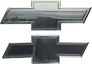 All Sales 96132P Chevy Bowtie Grille and Liftgate Emblem with Border- POLISHED