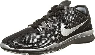 Nike 806277-001 Women Free 5.0 TR FIT 5 MTLC, Black/Metallic Silver, Size 6.5