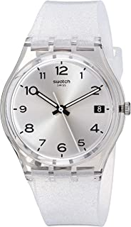 Swatch 1610 New Core Quartz Silicone Strap, Transparent, 16 Casual Watch (Model: GM416C)