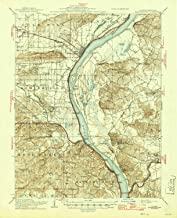 YellowMaps Shawneetown IL topo map, 1:62500 Scale, 15 X 15 Minute, Historical, 1916, Updated 1946, 20.7 x 16.9 in