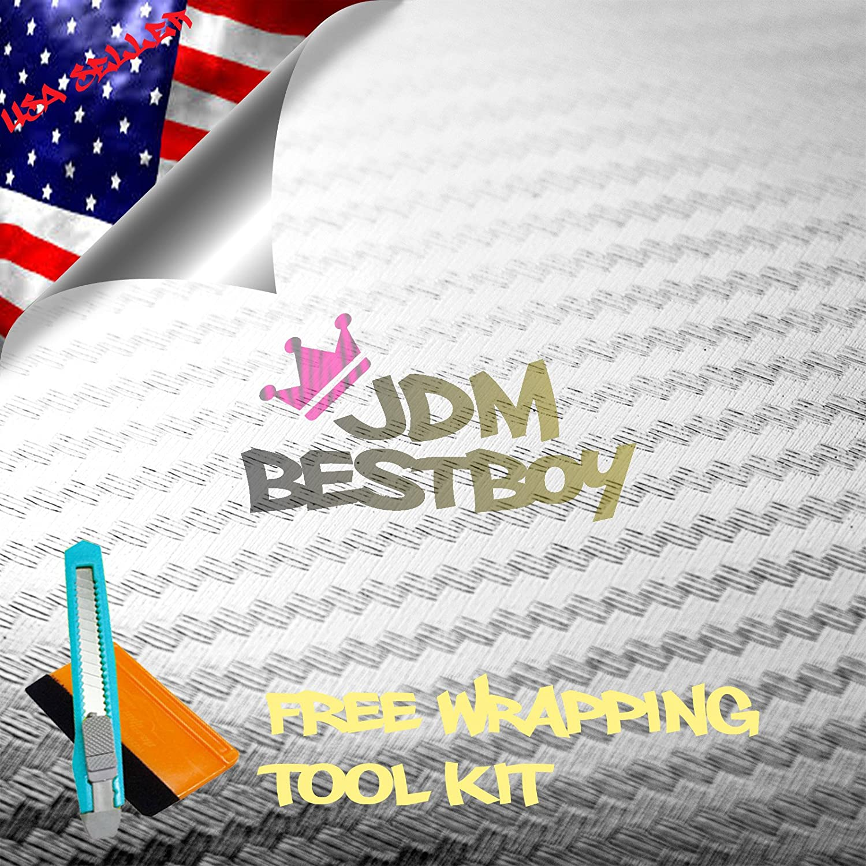JDMBESTBOY Free Tool Kit Chrome Super intense SALE Translated Silver Wrap S Vinyl Fiber Carbon