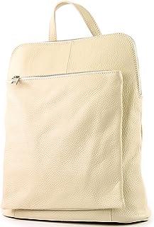 modamoda de - T141 - ital Damen Rucksacktasche 3in1 aus Leder