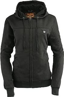 Milwaukee Leather Women's Zipper Front Heated Hoodie (Black, XL)