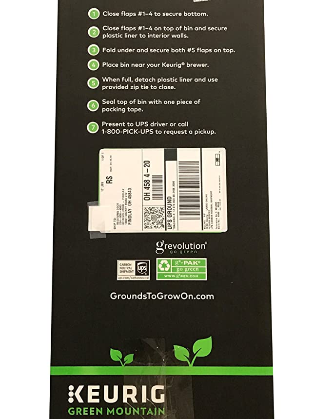 Grounds To Grow On Recovery Bin 1 Each