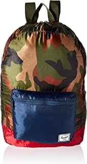 Herschel Packable Daypack Backpack, Woodland Camo/Navy/Red