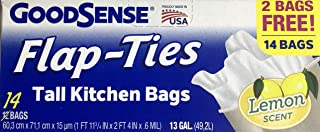 GoodSense Tall Kitchen Bags with flap ties 14 bags 13 GAL (49.2L) Lemon Scent (14)