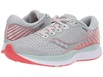 Saucony Guide 13 (Sky Grey/Coral) Women