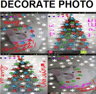 Snap, Decorate your Images with Christmas / Holiday Decorations & write greetings on them (no popup ads)