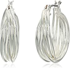 large twisted hoop earrings