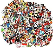 Cool Sticker 100pcs Random Music Film Vinyl Skateboard Guitar Travel Case Sticker Door Laptop Luggage Car Bike Bicycle...
