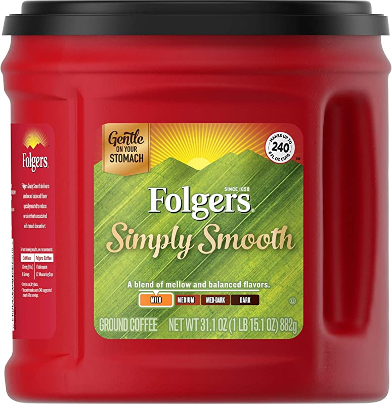 Folgers Simply Smooth Ground Coffee Medium Roast