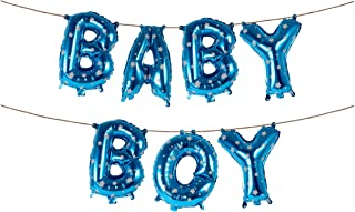 16 Inch Baby Boy Blue Star Banner Foil Letters Balloons for Baby Shower Royal Prince Birthday Gender Reveal Party Buntings Supplies