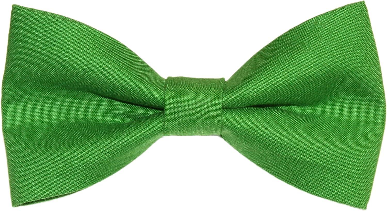 Men's Grasshopper Green Clip On Cotton Bow Tie amy2004marie