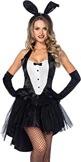 Women's 3 Piece Tux And Tails Bunny Tuxedo Costume