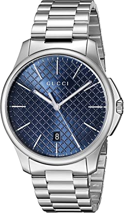 G-Timeless Large Blue Dial Steel Bracelet