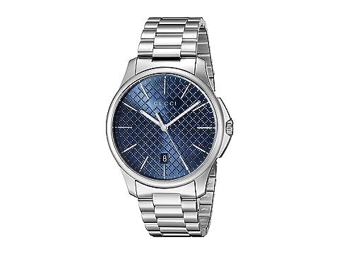 Gucci G-Timeless Large Blue Dial Steel Bracelet