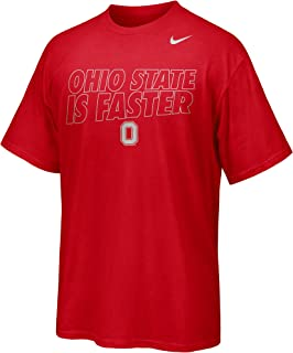 NIKE Ohio State Buckeyes Fast is Faster NCAA Foil Outline Statement T-Shirt