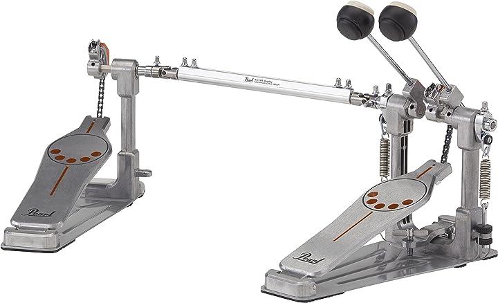 Doppio pedale grancassa con camma intercambiabile cromo pearl - p-932 P932