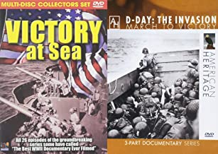 Victory at Sea & American Heritage D-Day Documentary Collection on 4-DVD's World War II Bundle