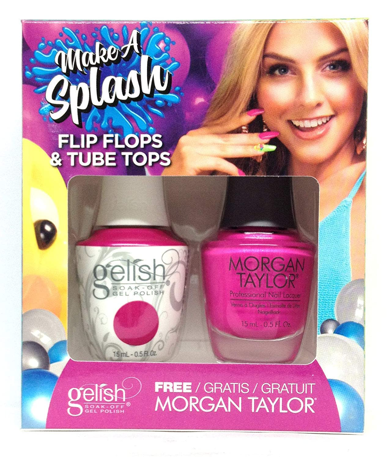 実行可能軸一致するHarmony Gelish - Two of a Kind - Make a Splash 2018 Collection - Flip Flops & Tube Tops