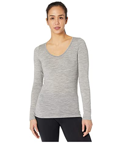 Icebreaker Siren Merino Long Sleeve Sweetheart (Metro Heather) Women