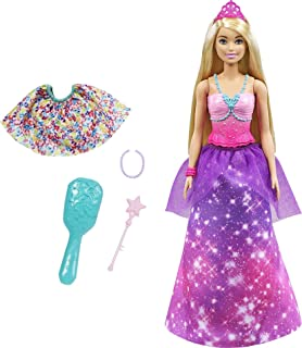 Barbie Dreamtopia 2-in-1 Princess to Mermaid Fashion Transformation Doll (Blonde, 11.5-in) with Accessories, for 3 to 7 Y...