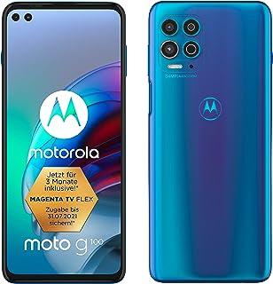 Motorola Moto G100 Dual-SIM 128GB ROM + 8GB RAM Factory Unlocked 5G Smartphone (Iridescent Sky) - International Version