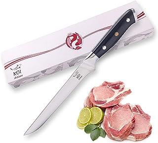 KOI ARTISAN - Cuchillo de fileteo para deshuesar pescado y carne de 15 cm, acero Damasco VG10 Super - Mango de grado militar G10