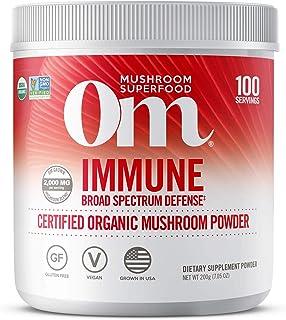 Om Organic Mushroom Superfood Powder, Immune, (100 Servings), Reishi & Turkey Tail, Immune Support Supplement, 7.05 Ounce ...