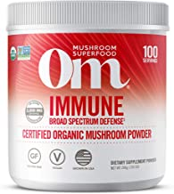 product image for Om Organic Mushroom Superfood Powder, Immune, (100 Servings), Reishi & Turkey Tail, Immune Support Supplement, 7.05 Ounce (Pack of 1)