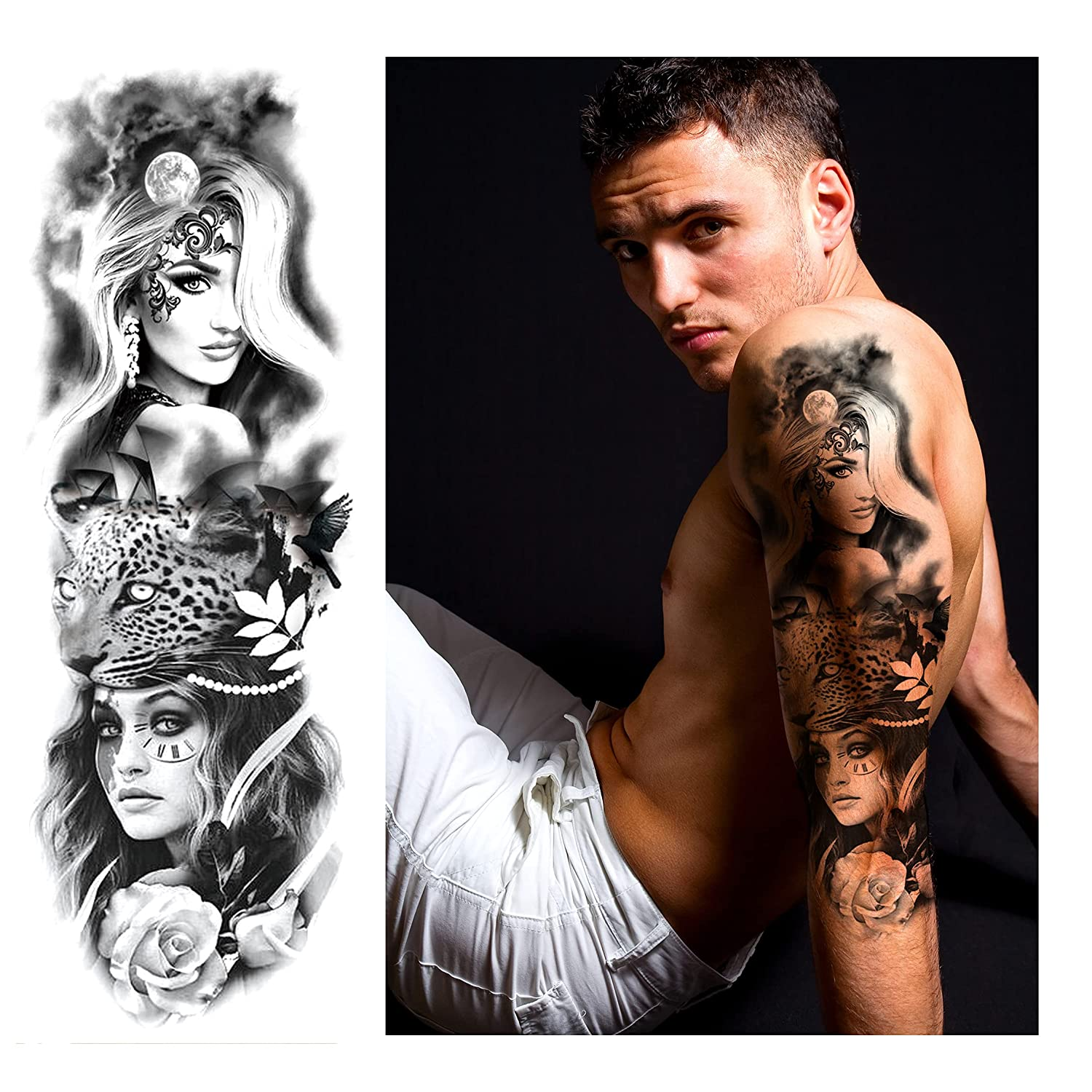 Temporary Tattoo Max 86% OFF Sexy 3d Fake Stickers Arm Full La Extra 55% OFF