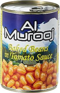 Al Murooj Beans in Tomato Sauce EC, 400 gm (Pack of 1)