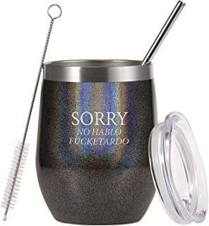 ZTA - Sorry No Hablo Fuctardo Travel Tumbler Funny Birthday Christmas for Friends Dad Mom Sister Brother Familys Co-wokers...