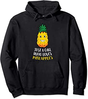 Sponsored Ad - Just a Girl Who Loves Pineapples Summer Cute Pineapple Girl Pullover Hoodie