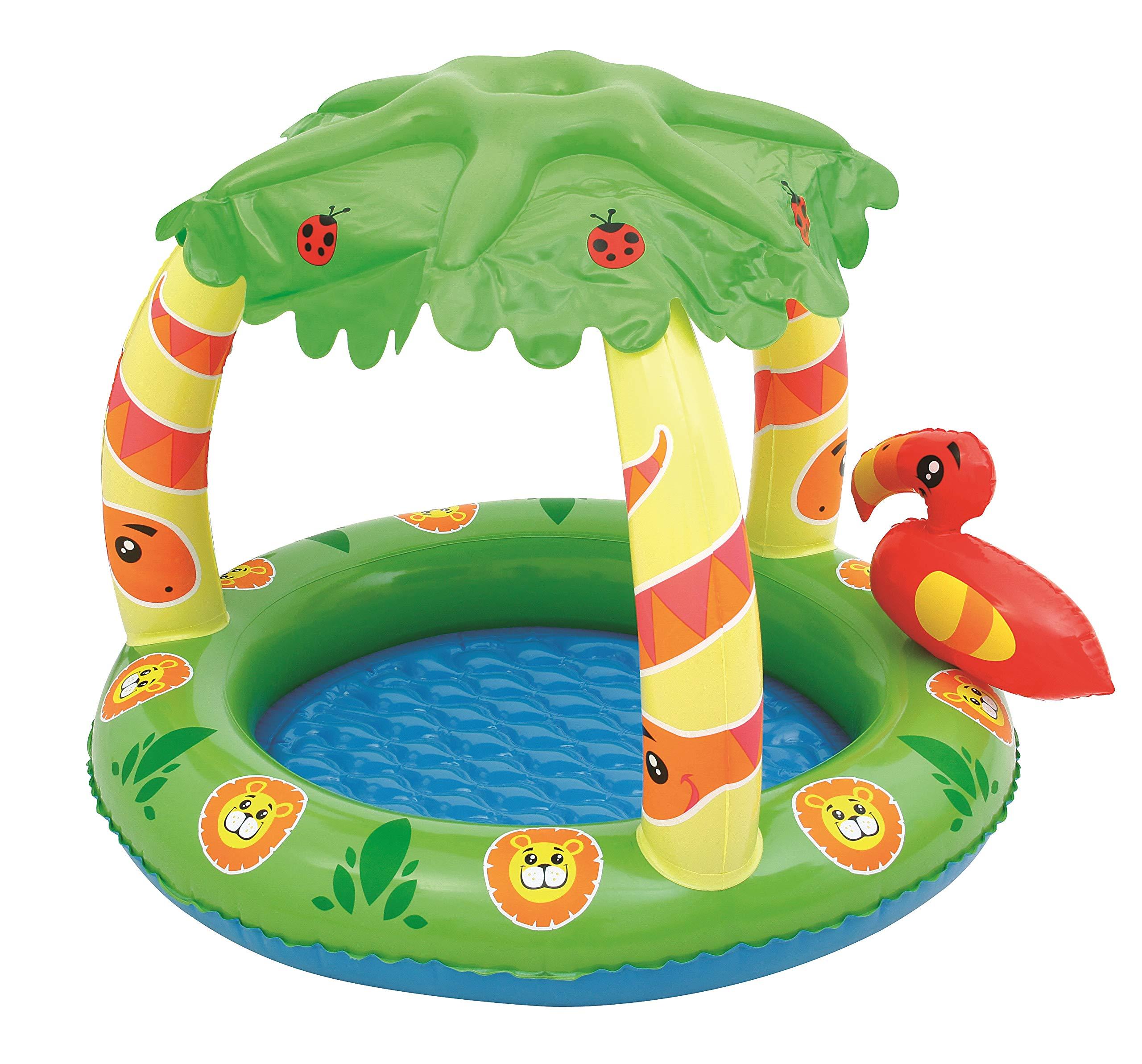 Piscina Hinchable Infantil con Parasol Bestway Friendly Jungle ...