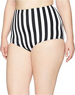 Plus Size High-Waist Louise Swim Bottom