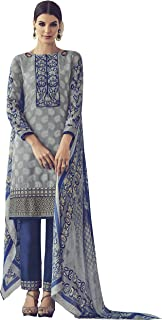 GREY AND BLUE CASUAL STRAIGHT CUT STYLE SUIT