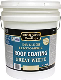 Great White HIGH SOLIDS 100% Silicone Roof Coating - White (Gallon)