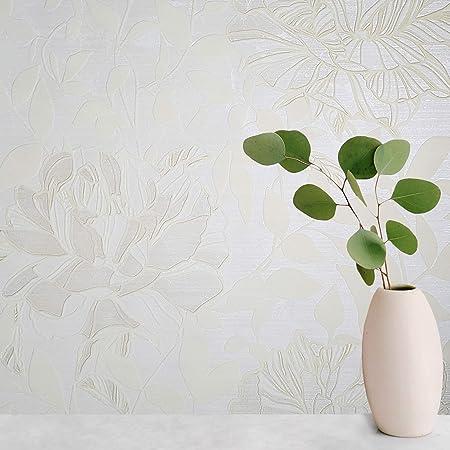Modern Wallpaper silver grey Metallic Textured Flocking leaves Flocked Velvet 3D