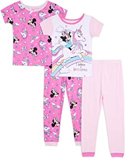 Brand New Girls Pyjamas Pink Cotton Disney Mickey Minnie Mouse Pink 3-4 Years