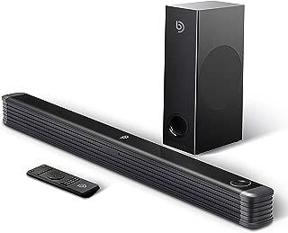 BOMAKER テレビ スピーカー 150W 2.1ch ホームシアター スピーカー ワイヤレスサブウーファー付き TV スピーカー Bluetooth/光デジタル/同軸/AUXなどに対応 ブラック Njord I