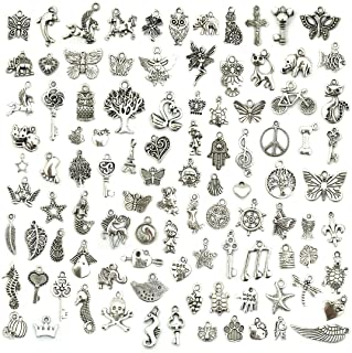 60pcs scissors Antique Silver Charms Pendants For Jewelry Making DIY 32*14mm