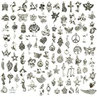 Wholesale Bulk Lots Jewelry Making Silver Charms Mixed Smooth Tibetan Silver Metal Charms...