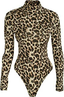 Glamaker Women's Warm One Piece Knit Bodysuit Ribbed Off Shoulder Bodysuit Rompers with Long Sleeves